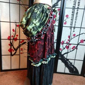 Handmade gypsy skirt Halloween fortune teller OOAK